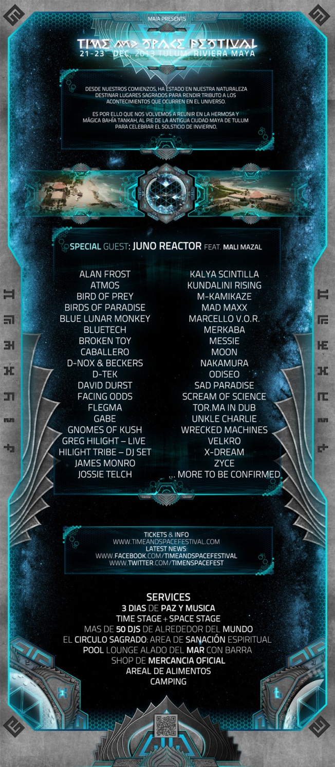 2013 time and space tulum info poster