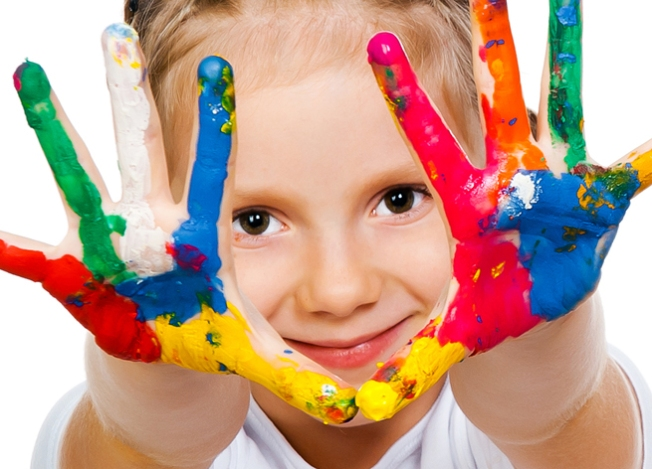 little-girl-child-painted-hands-handprints-paint