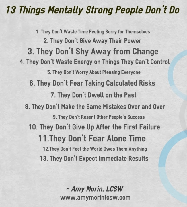 13 things mentally strong people do